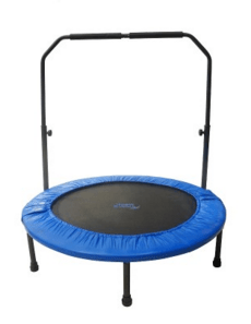 picture of a mini trampoline with handlebar