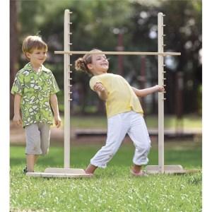 two kids playing limbo