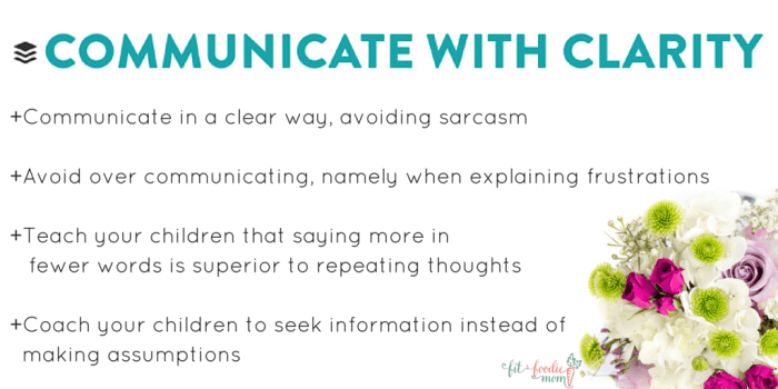 communicate with clarity buffer values families