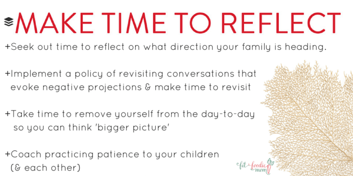 Family Values Make time to reflect value description
