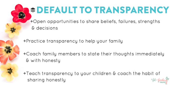 family values buffer values default to transparency