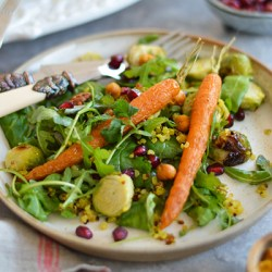 Moroccan festive #salad #vegan #glutenfree #healthyrecipe #festiverecipes | via @fit.foodie.nutter