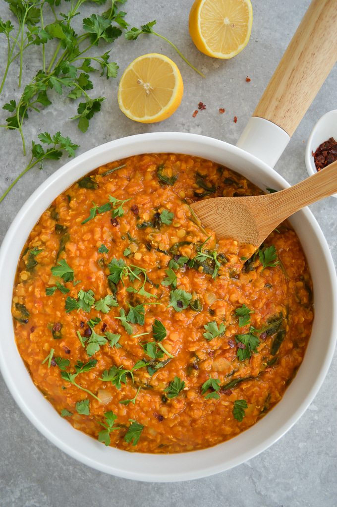 Red lentil curry (gluten free, dairy free, vegan)