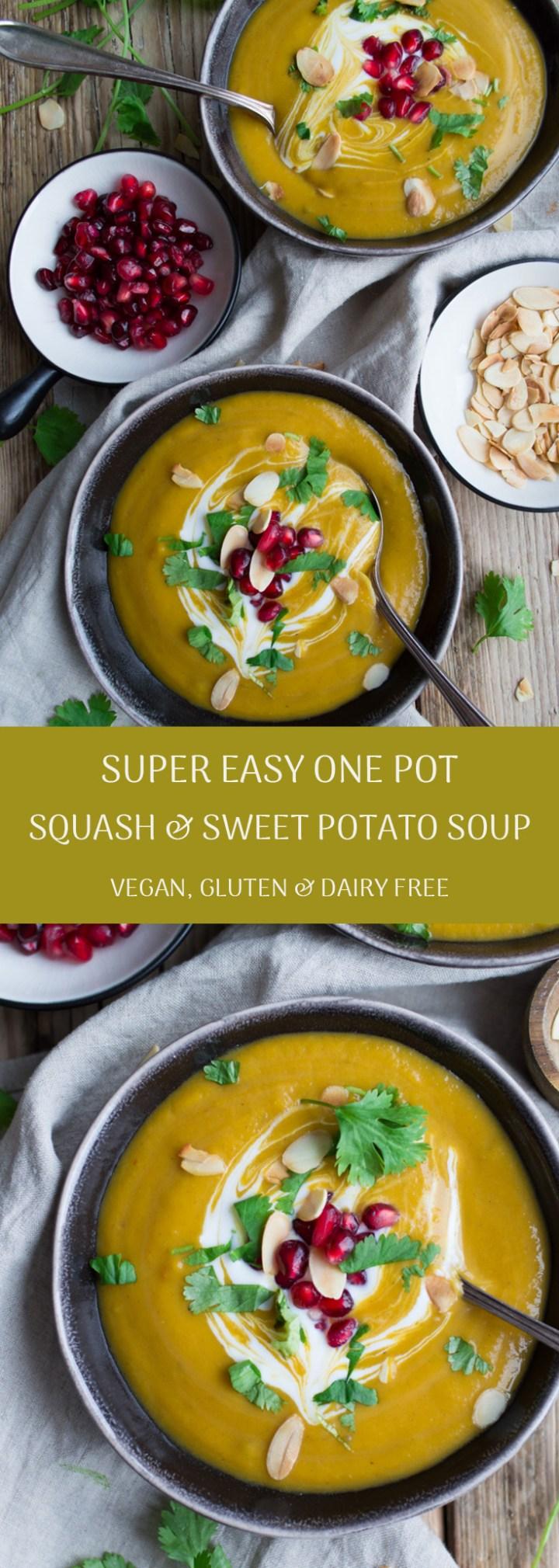 Sweet potato & squash soup #glutenfree #dairyfree #vegan #healthy | via @fit.foodie.nutter
