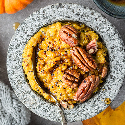 Cosy pumpkin porridge