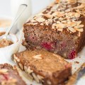 Healthy Vegan Banana & Raspberry Loaf