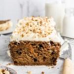 VEGAN CARROT CAKE LOAF (NO SUGAR OR APPLE SAUCE)
