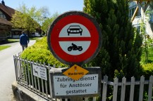 No cars allowed through, unless you live there or are delivering something