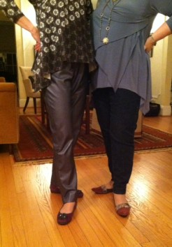 Carrie and Rae in their Party Pants!