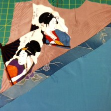 The batik strip flipped and pressed.