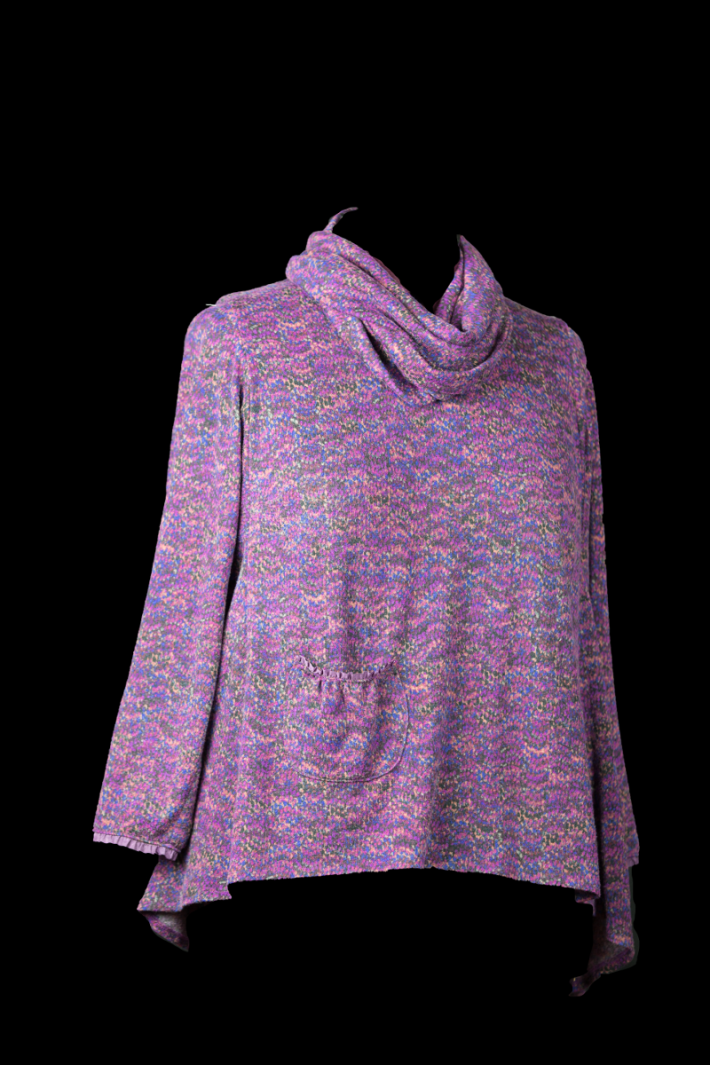 Magenta Sweater Knit with cowl