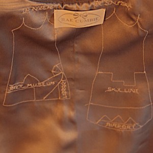 The thread traced map of the Drapey Denver dress.