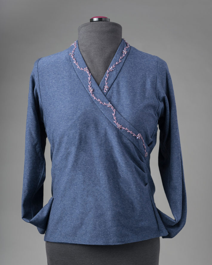 Shaped Band Surplice with Embroidery
