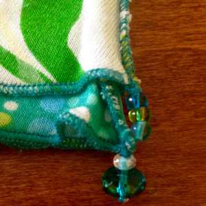 Turquoise Patchwork, bead detail