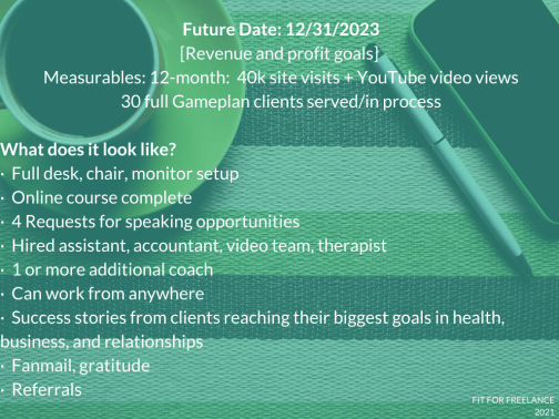 3-year goals