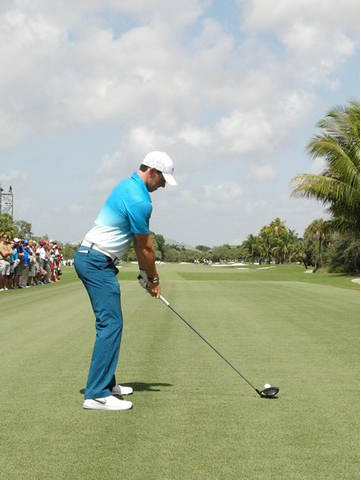Rory McIlroy's posture for his golf swing
