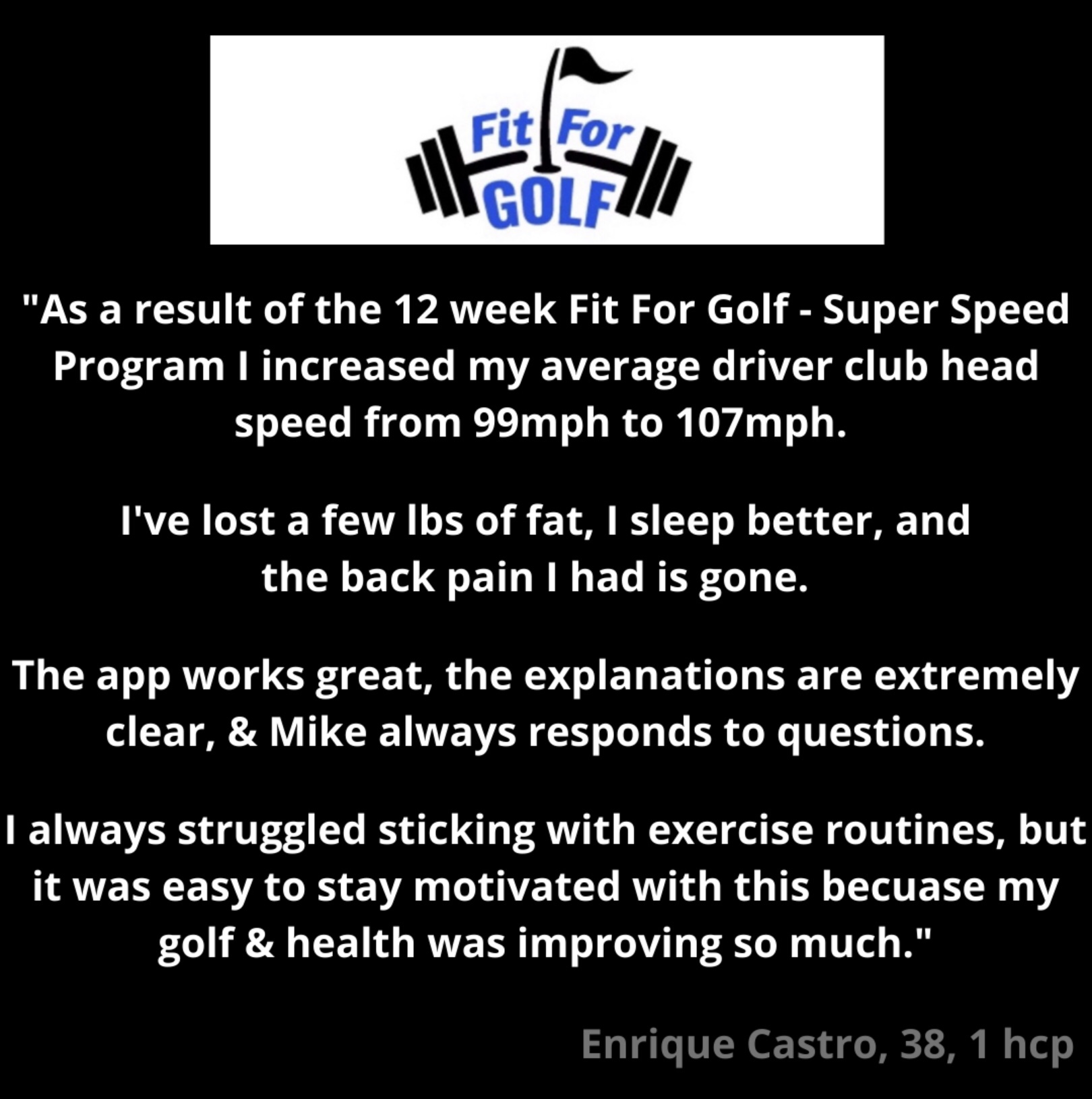 Club Head Speed Increased To Over 100 MPH