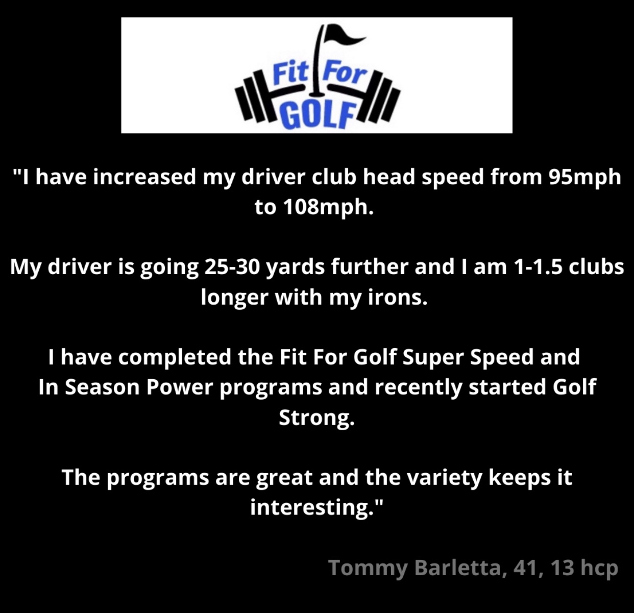Club Head Speed Is Increased by 13 MPH