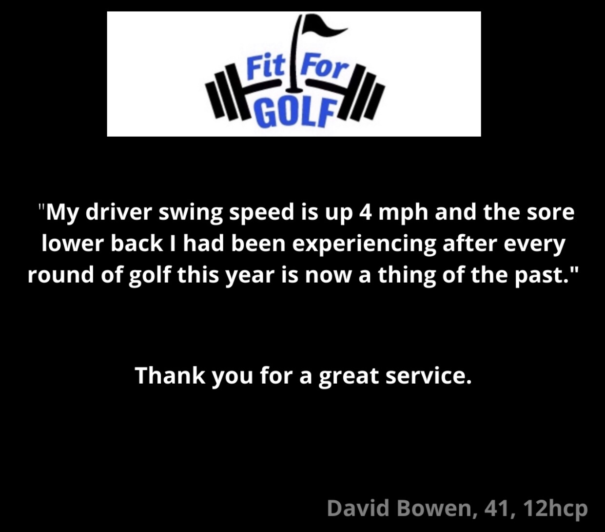 Driver Swing Speed Increases 4 MPH and Prevents Injuries