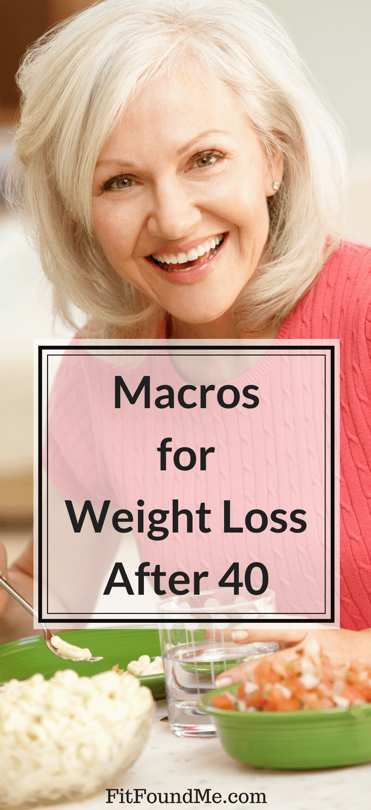 woman happily eating while counting macros losing weight