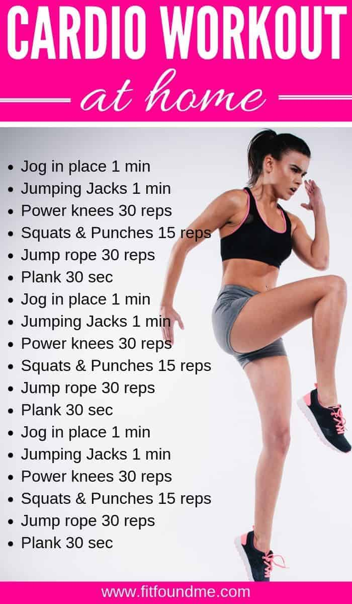 woman doing power knees cardio workout