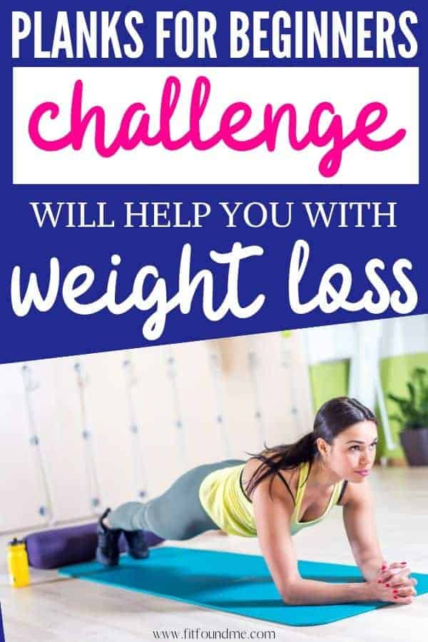 woman doing planks for beginners challenge