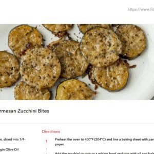 example recipes - zucchini bites