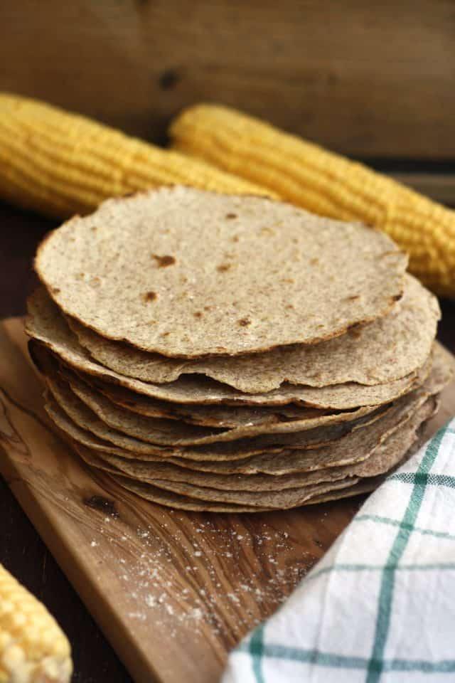 homemade whole wheat tortilla