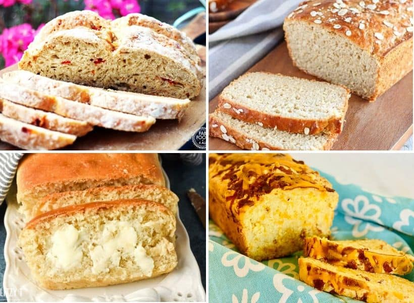 fresh yeastless bread sliced