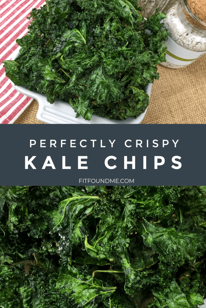 bowls of crispy kale chips from oven