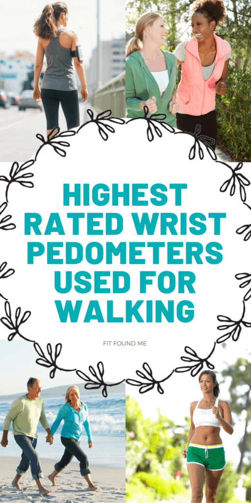 men and women walking with simple wrist pedometers