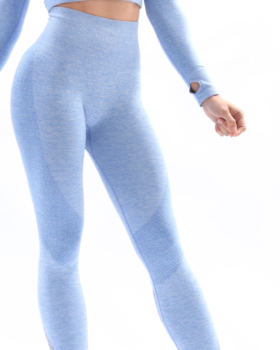 blue seamless leggings fitgal activewear