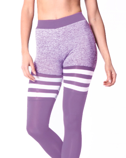 purple sock leggings