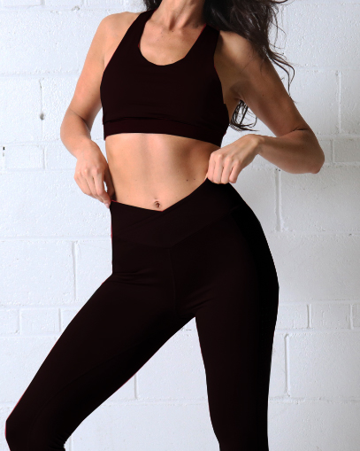 black yoga leggings