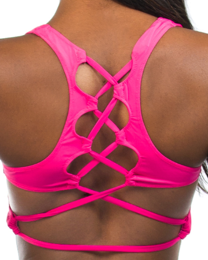 pink sports bra fitgal activewear