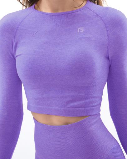 purple seamless workout top