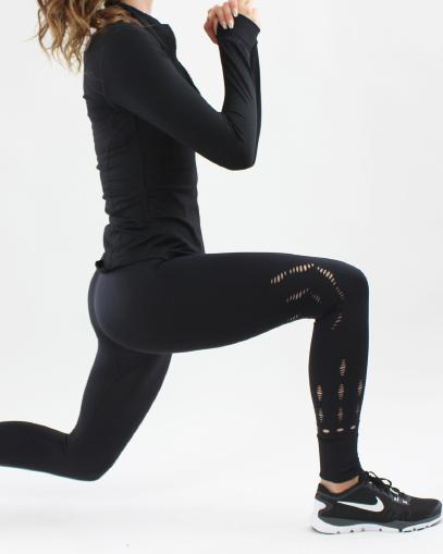 black mesh leggings fitgal