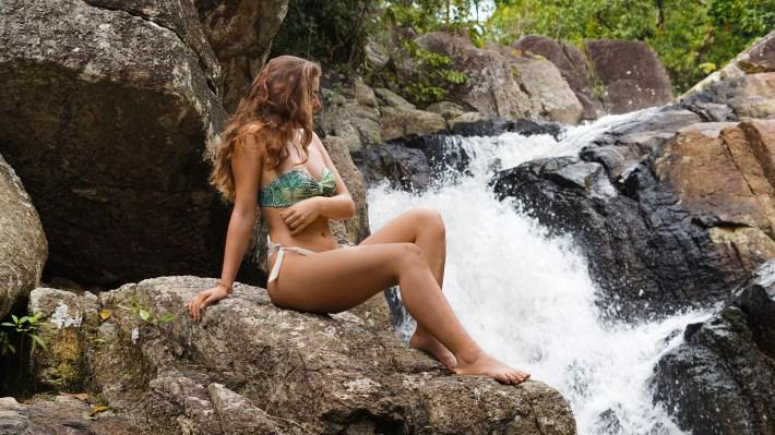 At the Than Sadet waterfall on Koh Phangan , Thailand