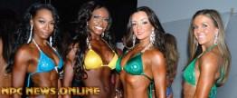 Nikki on the far left received 2nd place in novice bikini