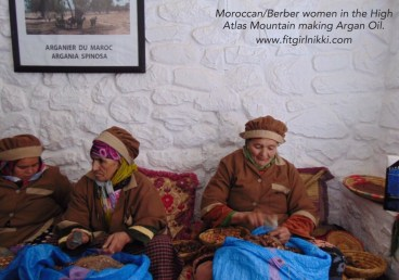 Moroccan Women Extracting Argan Oil