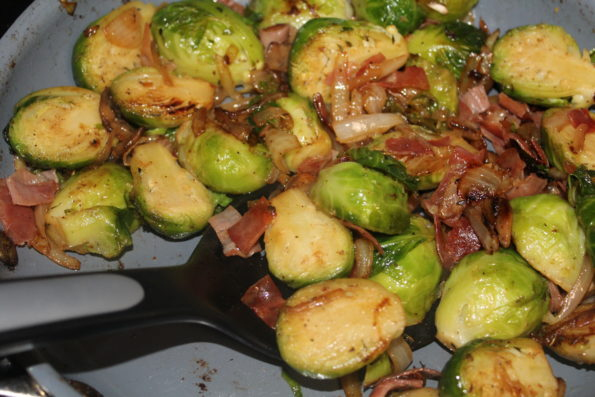 Sauteed Brussels with Prosciutto - a tasty way to eat brussel sprouts!