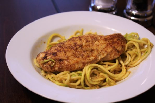 Spicy Chicken and Zucchini Noodles
