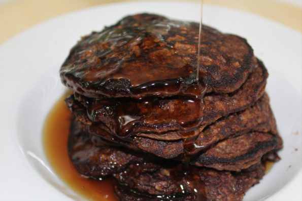 Chocolate Sweet Potato and Oatmeal Pancakes, gluten-free