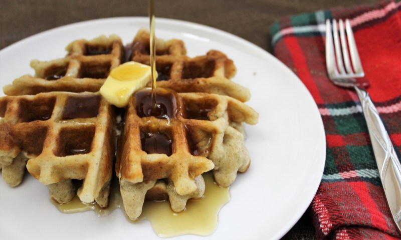 Paleo Gingerbread Waffles - These gluten-free, grain-free Gingerbread Waffles are filled with holiday flavors.  Perfect for December mornings!