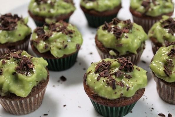 Paleo Saint Patrick's Day Mini Thin Mint Cupcakes
