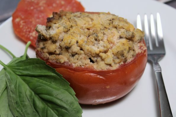 Slow Cooker Paleo Sausage Stuffed Tomatoes - paleo and Whole 30 compliant