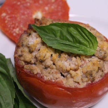 Slow Cooker Italian Stuffed Tomatoes - paleo and Whole 30 compliant