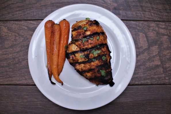 Spicy Maple Grilled Chicken Breasts - a delicious sweet and spicy paleo grilled meal