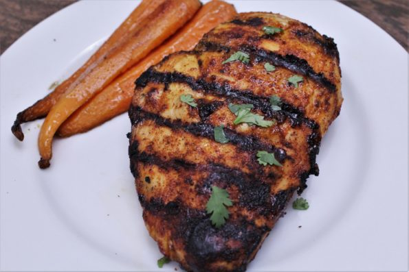 Spicy Maple Grilled Chicken - a savory blend of maple and spices to make for a delicious paleo grilled dish