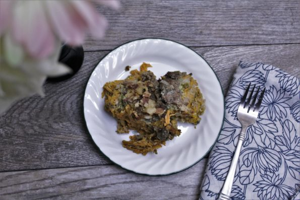 Overnight Crockpot Breakfast Casserole - wake up to a cooked, paleo breakfast!